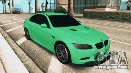 BMW M3 E92 Green Coupe para GTA San Andreas