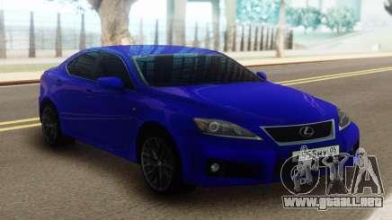 Lexus IS-F Blue para GTA San Andreas
