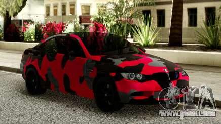 BMW M3 CAMO para GTA San Andreas