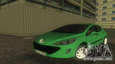 2010 Peugeot 308 para GTA Vice City