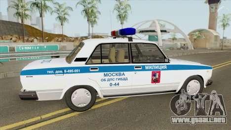 VAZ 2107 DPS (Policía de Moscú) para GTA San Andreas