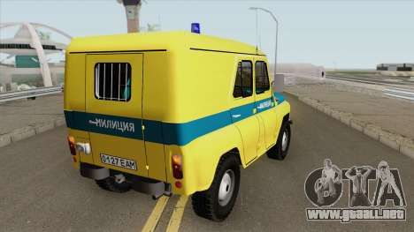 UAZ 469 (Sindicato de Policía) para GTA San Andreas