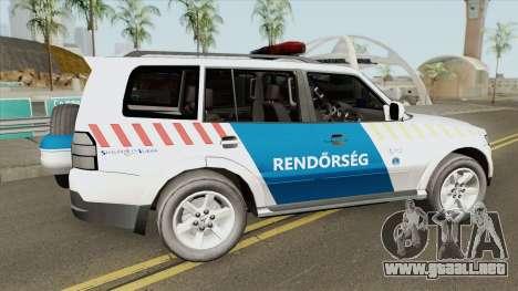 Mitsubishi Pajero (Magyar Rendorseg) para GTA San Andreas