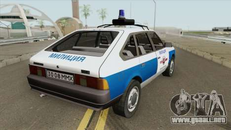 21418 AZLK Moskvich (Policía Municipal) para GTA San Andreas