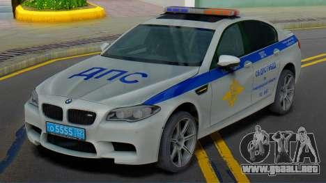 BMW M5 F10 SB de la policía de tráfico para GTA San Andreas