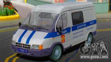 GAZ 2217 Sobol de la Policía de 2003 para GTA San Andreas