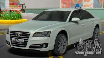 Audi A8 De 2013 la Administración de la región para GTA San Andreas