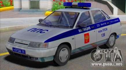 Vaz 2110 Policía PPP para GTA San Andreas