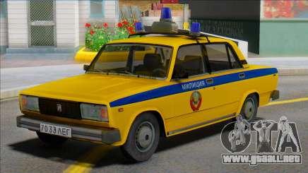 Vaz-2105 Policía Soviética 1982 para GTA San Andreas