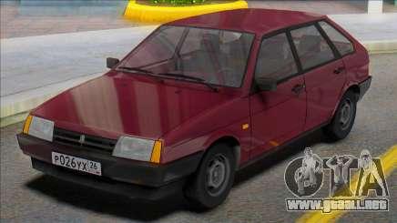 Vaz-2109 Placas Rusas para GTA San Andreas