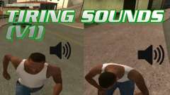 Tiring Sounds v1 para GTA San Andreas