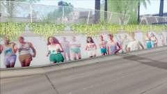 LA Freeway Murals Mod para GTA San Andreas