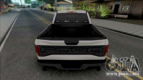 Ford F-150 Raptor 2019 Crew Cab para GTA San Andreas