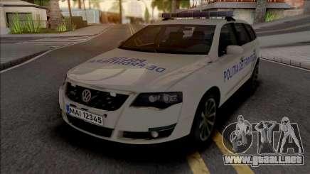 Volkswagen Passat Politia De Frontiera v2 para GTA San Andreas