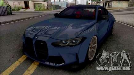 BMW M4 2021 WideBody para GTA San Andreas