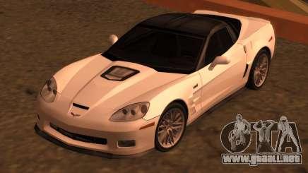 Chevrolet Corvette ZR1 (C6) 2009 para GTA San Andreas