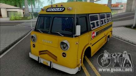 Dodge Bus Escolar v2 para GTA San Andreas