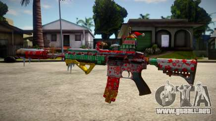 HK416 Merry Christmas para GTA San Andreas