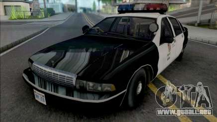 Chevrolet Caprice 1992 LAPD Improved para GTA San Andreas