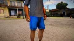 Darker Colored Cut Off Denims Shorts For Cj para GTA San Andreas