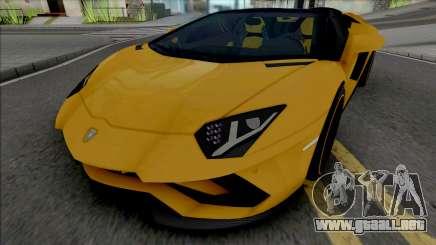 Lamborghini Aventador S Roadster para GTA San Andreas