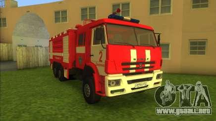 KamAZ-6520 Fire AC-40 para GTA Vice City