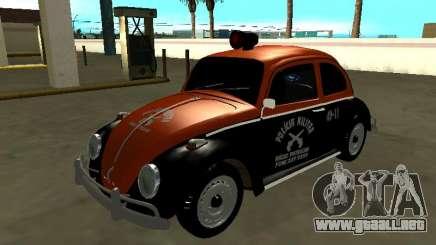 Volkswagen Beetle 1969 Paulista Patrol Radio para GTA San Andreas
