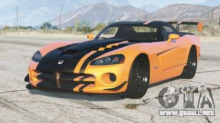 Dodge Viper SRT10 ACR 2008〡add-on para GTA 5