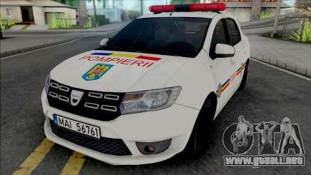 Dacia Logan Plus Fire Department para GTA San Andreas