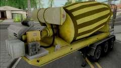 Cement Mixer Trailer Yellow
