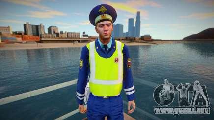 Inspector del DPS con chaleco amarillo para GTA San Andreas