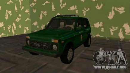 Vaz 2121 Niva FSB de la Federación rusa para GTA San Andreas