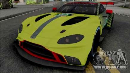Aston Martin Vantage GTE 2019 para GTA San Andreas