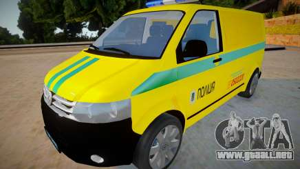 Volkswagen Transportador T5 - Policía para GTA San Andreas
