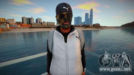 El tipo con la máscara con la mochila para GTA San Andreas