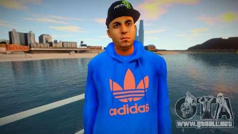 Latinos Adidas style para GTA San Andreas