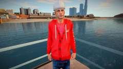El tipo de la sudadera roja con capucha para GTA San Andreas