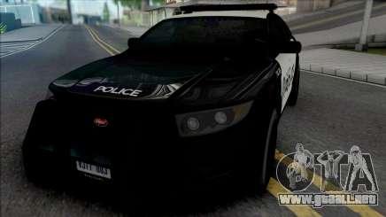 Vapid Torrence Police San Fierro para GTA San Andreas