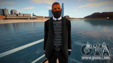 Nuevo guardia de seguridad con una máscara para GTA San Andreas