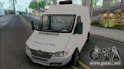 Mercedes-Benz Sprinter Politia para GTA San Andreas