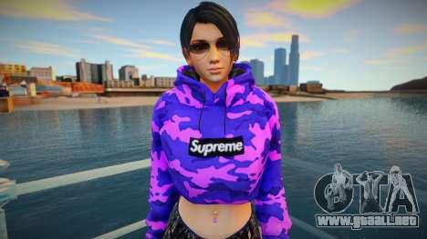 DOA Momiji Fashion Casual V3 Crop Hoodie para GTA San Andreas