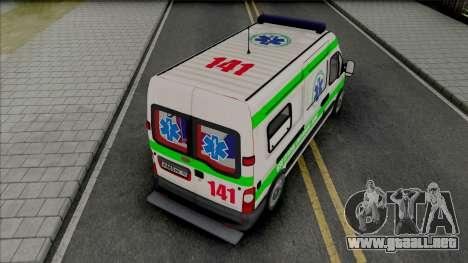 Renault Master Seme Ambulancia Paraguay para GTA San Andreas