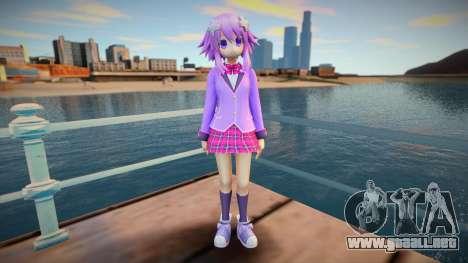 Megatagmesion Neptunia Skin v2 para GTA San Andreas
