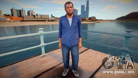 Michael en una camisa azul para GTA San Andreas