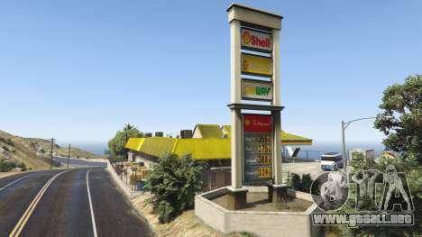 GTA 5 Shell Gas Station and Subway on Rest Area