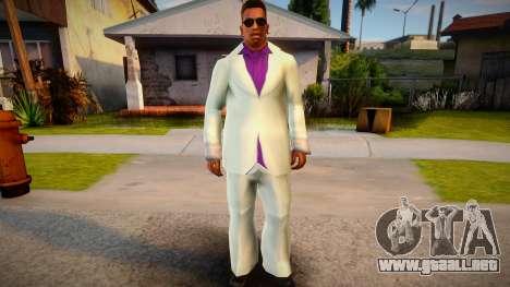 Lance Vance white suit for CJ para GTA San Andreas