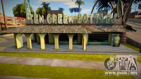 Diez botellas verdes texturas de la barra para GTA San Andreas