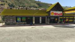 Shell Gas Station and Subway on Rest Area para GTA 5
