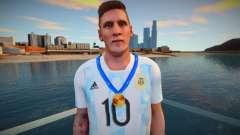 Lionel Messi Argentina T-Shirt - Medal 2021 para GTA San Andreas