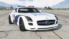 Mercedes-Benz SLS 63 AMG (C197) 2010〡 Policía china para GTA 5